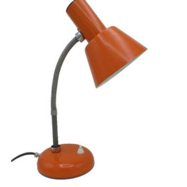 lampe de bureau vintage allemande je fassung metal orange