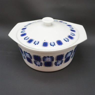 legumier soupiere plat vintage digoin sarreguemines porcelaine a feu decor bleu decor palma