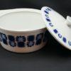 legumier soupiere plat vintage digoin sarreguemines porcelaine a feu decor bleu