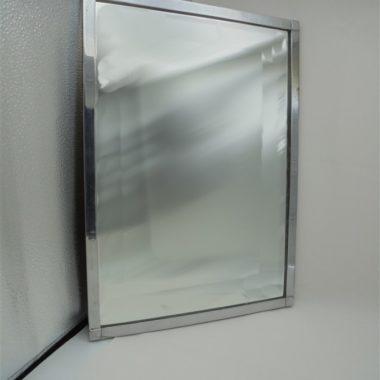 miroir rectangulaire cadre cuivre chrome