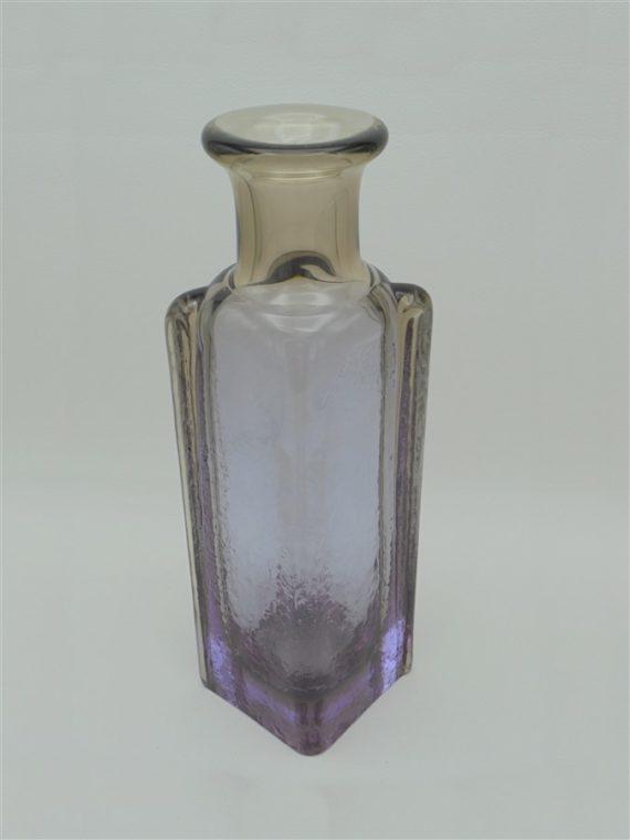 flacon vase verre ou cristal violet et brun fume idee cadeau noel