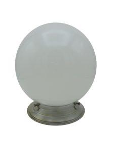lampe globe opaline blanche socle cuivre chrome art deco