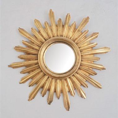 miroir soleil glace bombee cadre resine dore sorciere idee cadeau noel