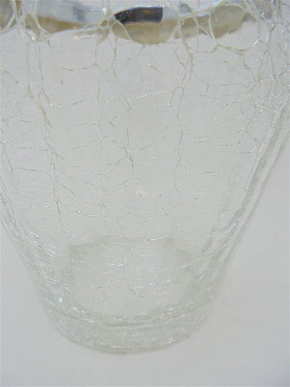 seau glace glacons verre craquele et sa pince demeyere