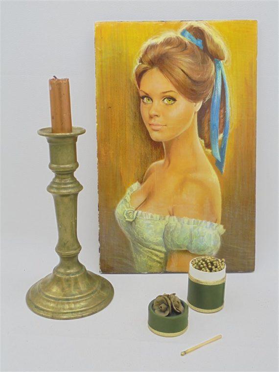 ancien chandelier bougeoir bronze dore laiton