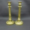 anciens chandeliers bougeoirs laiton bronze dores