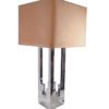 grande lampe de luxe L382JC signee vintage annees 70 chromee italy lumica circa willy rizzo