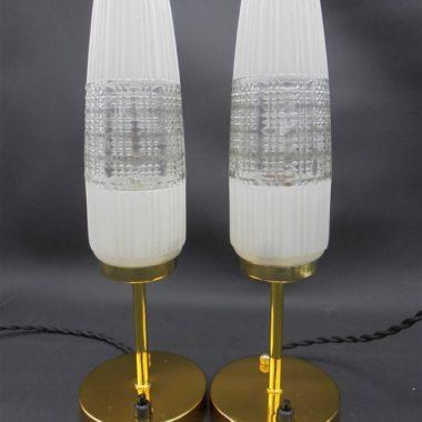paire lampes globes vintage verre allonges esprit scandinave