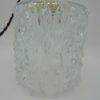 luminaire suspension lampe vintage verre moule forme cylindrique