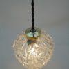 suspension vintage globe verre transparent