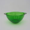 ancien bol verre vert a oreilles vereco