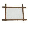 ancien miroir de barbier contour bois imitation bambou