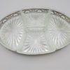 ancien plat coupelles en verre da,s plateau argente style louis XVI