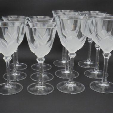 service verres a pied eau et vin cristal arques signes JG Durand modele florence