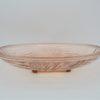 ancien plat art deco en verre rose translucide legerement creux