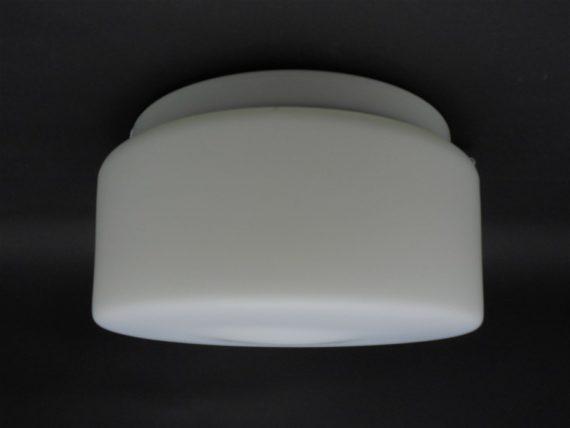 plafonnier ou applique murale rond verre blanc mat