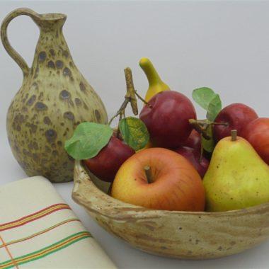 plat creux gres coupe fruits saladier