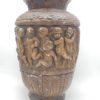 pot vase sur pied en platre decor cherubins angelots dansant