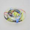 sulfure presse papier forme soucoupe signe eric lindgren verrerie claret 1997