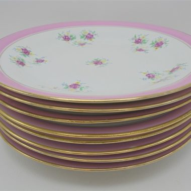 assiettes plates vintage decor floral rose