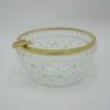 cendrier verre ou cristal et metal dore