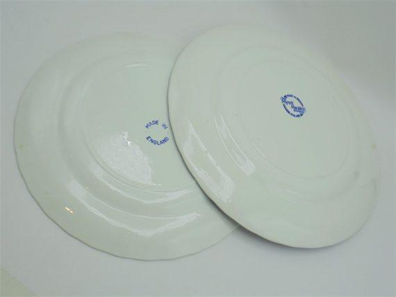 plats assiettes ceramique anglaise decor bleu