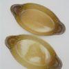 plats individuels a gratin en gres forme ovale