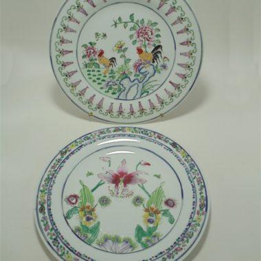 assiettes chinoises en porcelaine emaillee