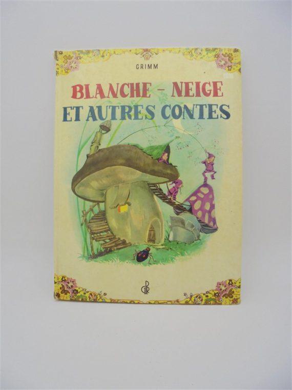livre vintage contes grimm blanche neige et autres contes