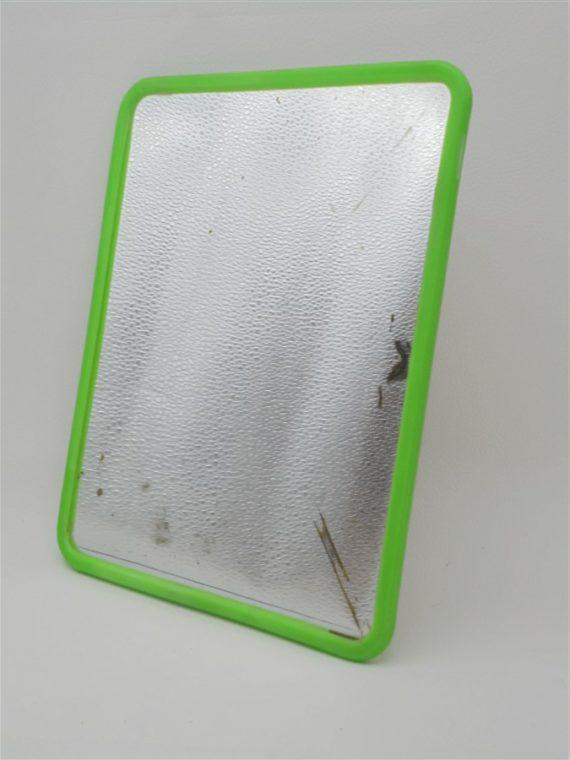 miroir de barbier vintage contour plastique vert pomme