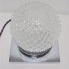 lampe chic luxe hillebrand globe verre pics socle chrome