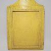 miroir ancien en bois a 2 pans couleur jaune