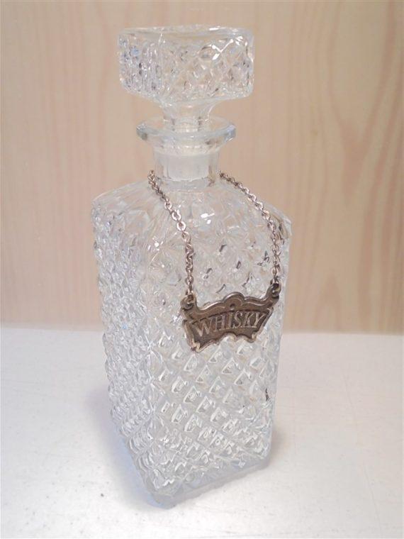 carafe whisky vintage verre motif pointes