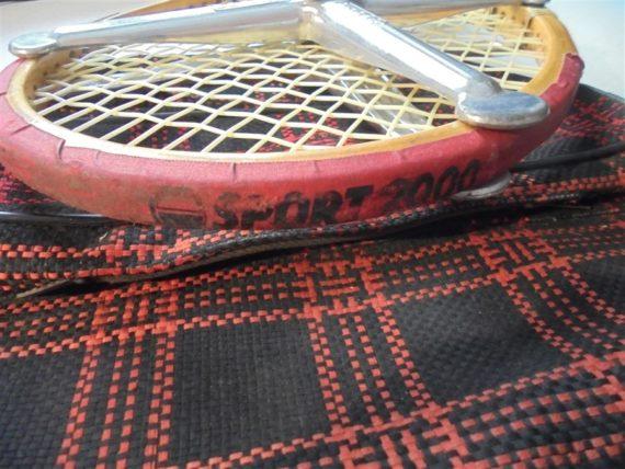 raquette tennis vintage en bois davis professional