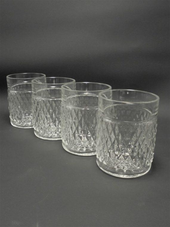 4 verres a whisky vintage