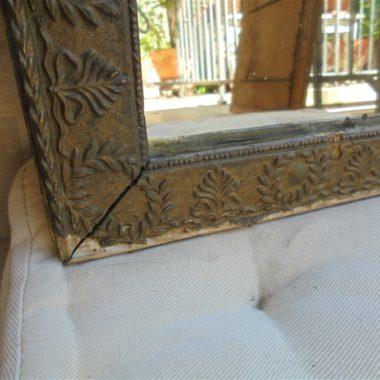 ancien miroir de style louis XVI decor noeuds et couronnes de lauriers