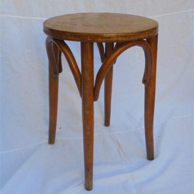 ancien tabouret bois style bistrot baumann
