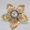 applique plafonnier fleur metal dore