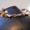 bracelet petits coeurs metal dore plaque or