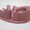 cendrier aluminium publicitaire a m am AM couleur lie de vin rose