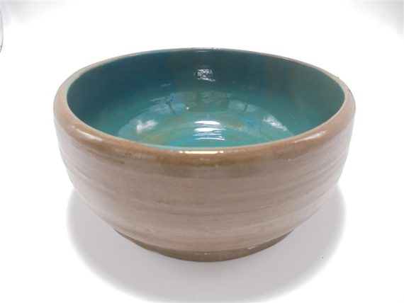 vide poche coupelle ceramique taupe et turquoise