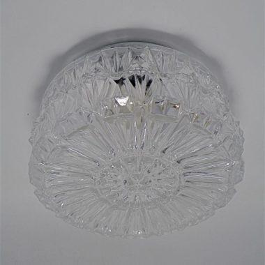 plafonnier vintage verre transparent forme ronde