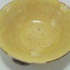 ancien service 6 tasses cafe en terre cuite jaune