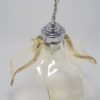suspension en verre de murano design or irise