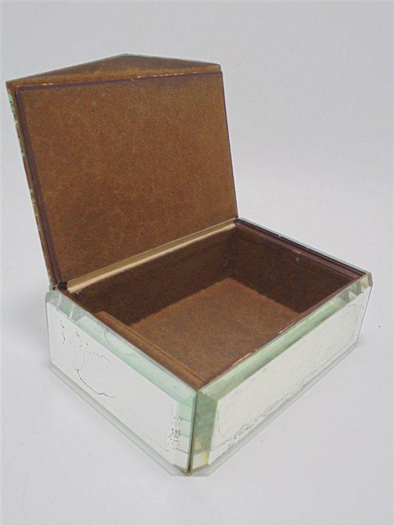 ancienne boite a bijoux annees 50 a facettes miroirs biseautes
