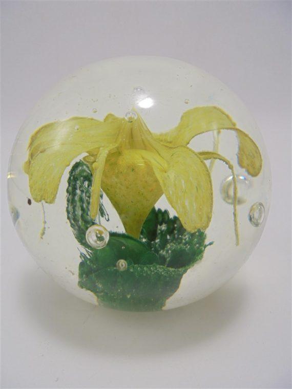 boule sulfure fleur jaune presse papier
