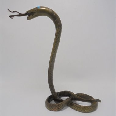 serpent en laiton figurine animaliere