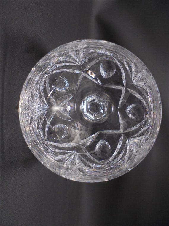 paire de verres a pied en cristal taille main cristyl