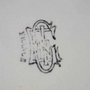 ancien dessous de plat faience gien renaissance 1875