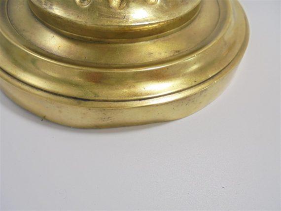 ancienne lampe en bronze dore bras etirable tulipe en verre